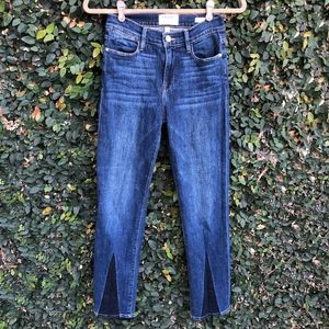 FRAME Denim Le High Straight Gusset Bay Jeans - 26